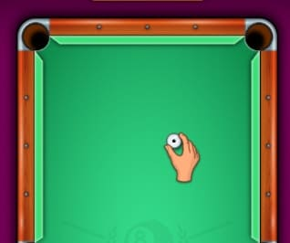 Place the cue ball